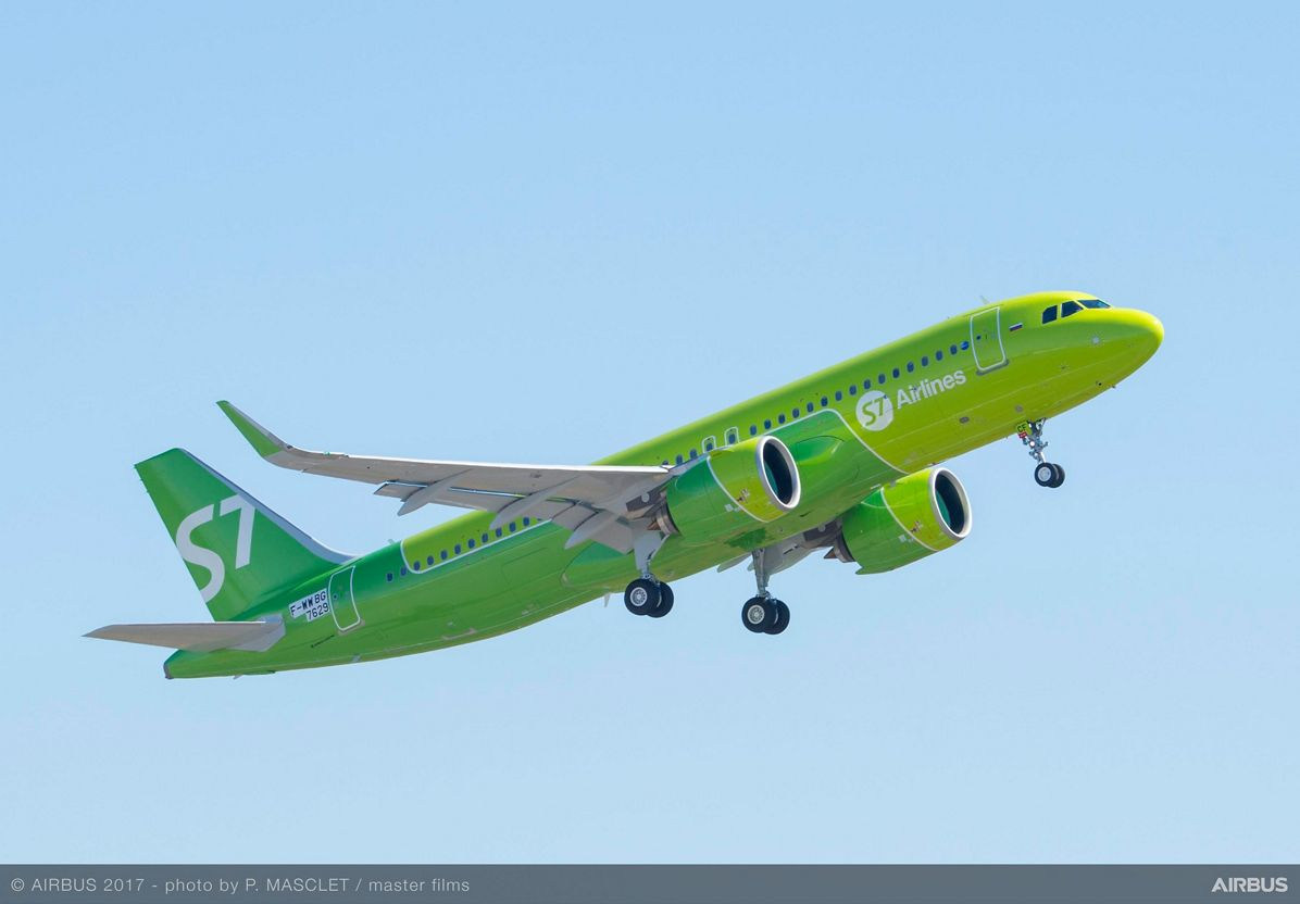 A320neo S7 Airlines Take Off