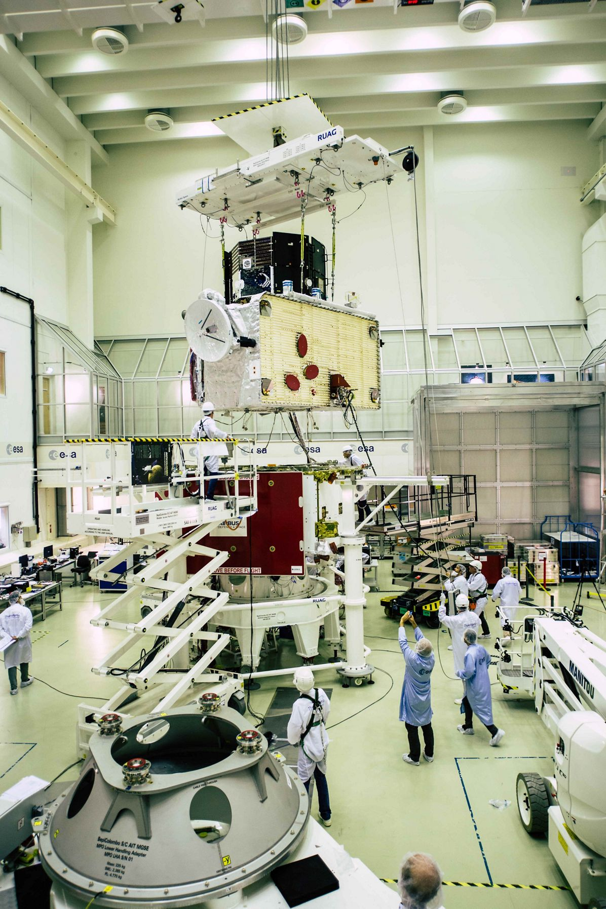 BepiColombo in white room